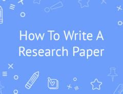 How to write an abstract on a research paper